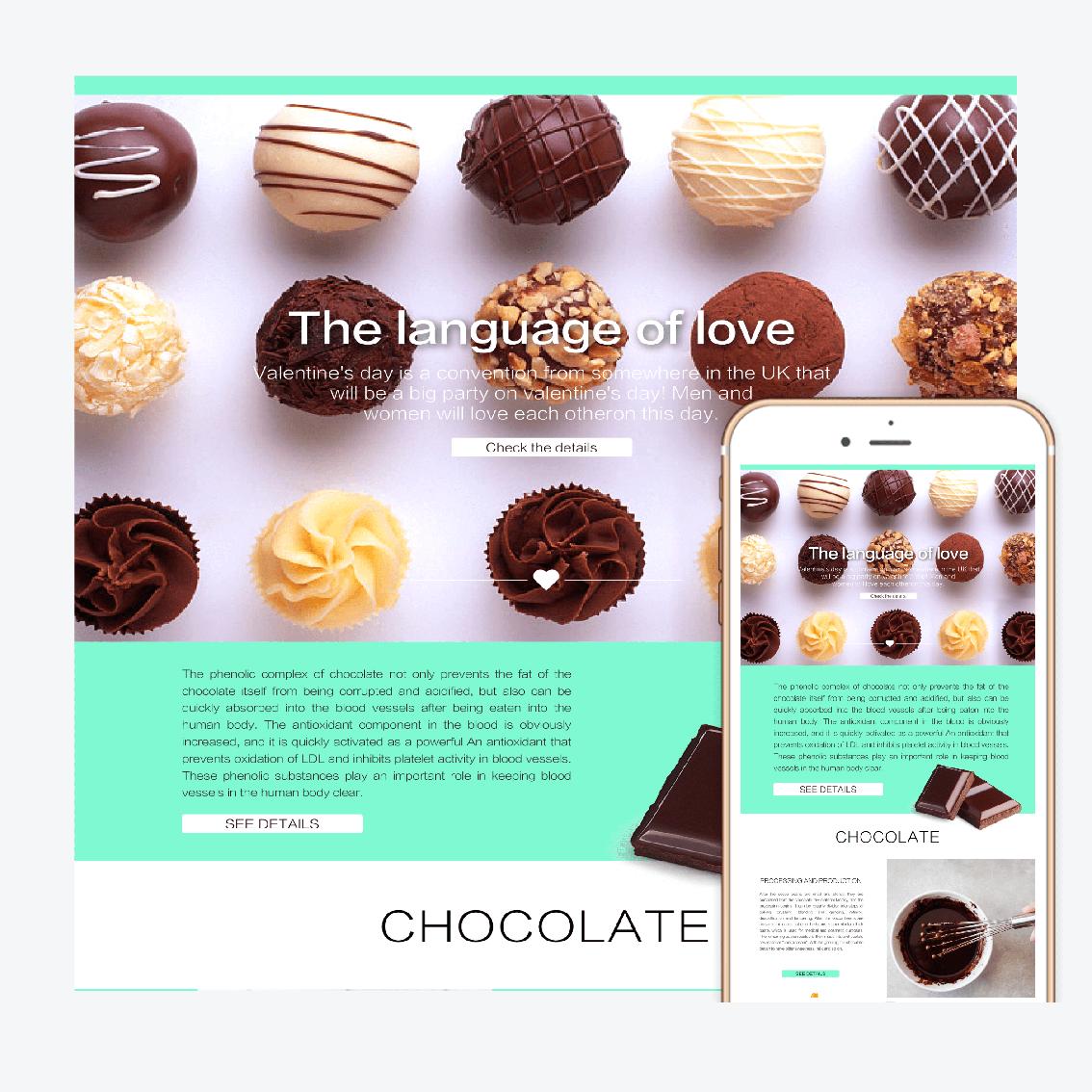 網頁模板-巧克力甜蜜風